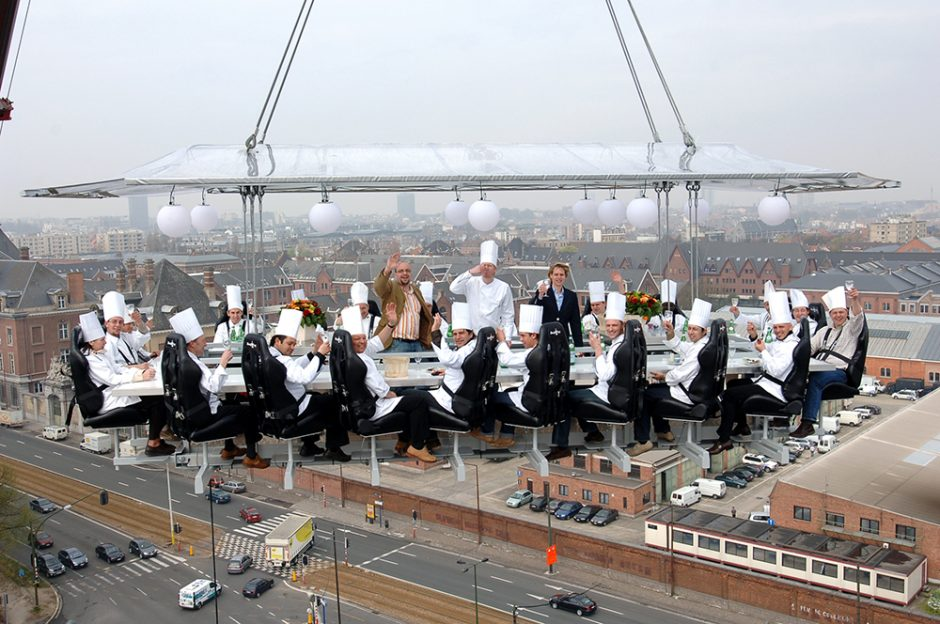 Dinner in the Sky in Athens
