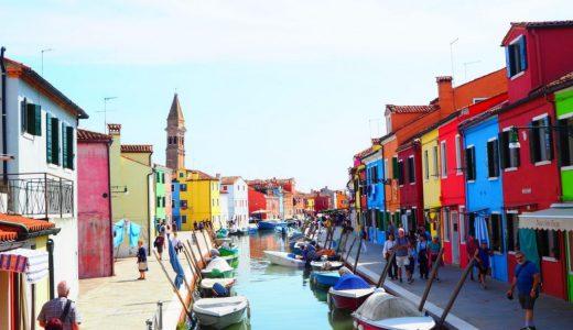 カラフルでかわいいベネチアのブラーノ島