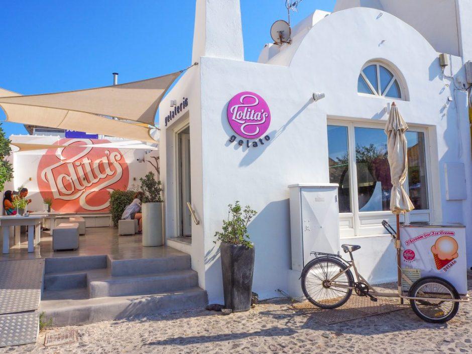サントリーニ島のジェラート屋