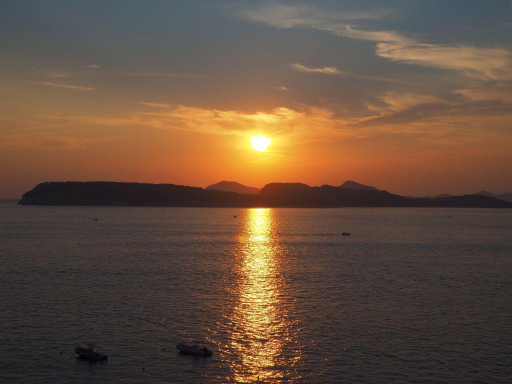 ドブロブニクの夕日