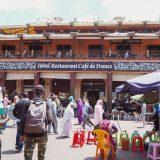 マラケシュのフナ広場を一望出来るカフェ