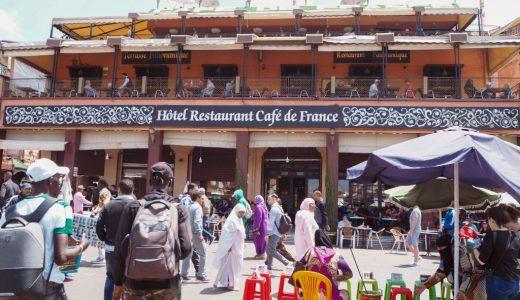 ジャマエルフナ広場を一望できるおすすめカフェ